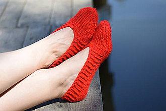 Obuv - papučky-balerínky červené (v.37-38) (37-38) - 10653555_