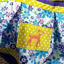 Detské oblečenie - Veselá zásterka zelenofialová - 10653301_