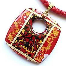 Náhrdelníky - Červený náhrdelník - 10653270_