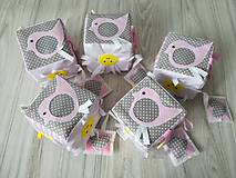 Hračky - Susugo Montessori kocka Ružovka. - 10653981_
