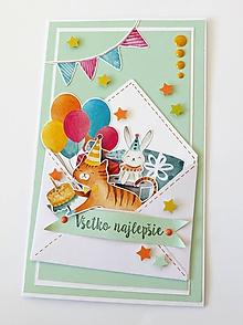 Papiernictvo - darčekový obal k narodeninám - 10654597_