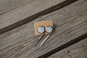 Náušnice - Náušnice drevené-napichovačky-visiace (2) - 10655254_