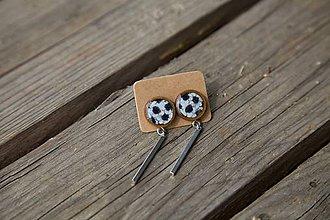 Náušnice - Náušnice drevené-napichovačky-visiace - 10655283_