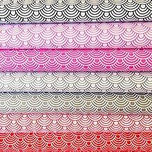 Textil - vlnky, 100 % bavlna, šírka 160 cm - 10654350_