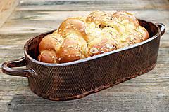 Nádoby - Forma na pečenie chleba - medená - oválna dlhá - 10656023_