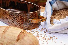 Nádoby - Forma na pečenie chleba - medová - oválna dlhá - 10656032_