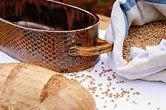 Nádoby - Forma na pečenie chleba - medová oválna - 10656032_