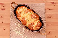 Nádoby - Forma na pečenie chleba - medová - oválna dlhá - 10656033_