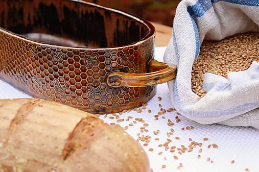 Forma na pečenie chleba - medová - oválna dlhá