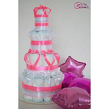 Detské doplnky - Plienková torta MELISA - 10655921_