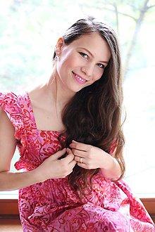 Tehotenské oblečenie - Šaty FORGET-ME-NOT Blooming - 10655800_