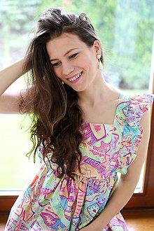 Tehotenské oblečenie - Šaty FORGET-ME-NOT Retro - 10655841_