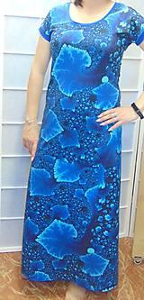 Šaty - Dlouhé šaty modré krystaly S - XXL - 10656036_