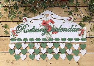 Dekorácie - Rodinný kalendár - 10654851_