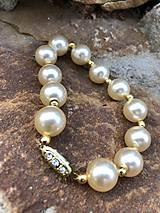 Perlovo zlatý náramok