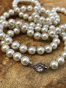 Náhrdelníky - Perlovo strieborný náhrdelník - 10655410_