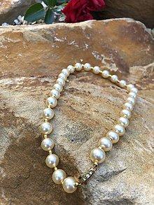 Náhrdelníky - Perlovo zlatý  náhrdelník - 10655454_