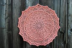 Úžitkový textil - Háčkovaná dečka Pauletta - 10655373_