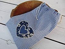 Úžitkový textil - modré vrecko - 10654321_