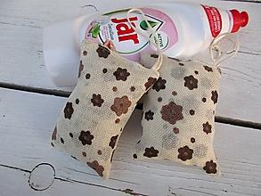 Úžitkový textil - kuchynské hubky na riad-kvety - 10654326_