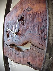 Hodiny - Hodiny nástenné jabloňovo-kovové4 - 10656129_