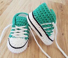 Topánočky - Tyrkysové tenisky - 10656881_