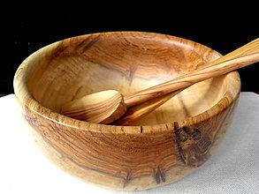 Nádoby - drevená misa... - 10656473_