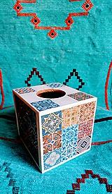 """Krabičky - Box na vreckovky """"Maroko White Nr.1"""" - 10657689_"""