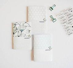 Papiernictvo - 3 zápisníky - eukalyptus/mint/grey - 10656271_