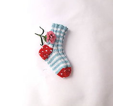 Topánočky - Ponožtičky pre bábätko 10 cm - 10656535_