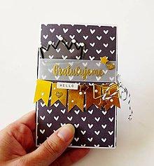 Papiernictvo - darčekový obal na kartu / peniaze - 10657294_