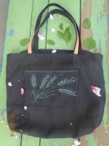Veľké tašky - Ľanová taška-žitko - 10656738_