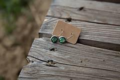 Náušnice - Naušky živicové mini visiace stromčúrky - 10656188_