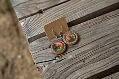 Náušnice - Naušky drevené MAKY - 10656384_