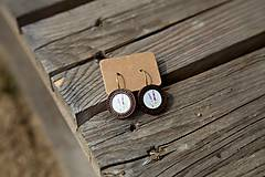 Náušnice - Naušky drevené levanduľa - 10656454_