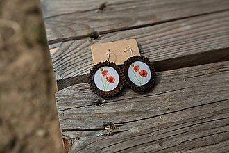 Náušnice - Naušnice drevené s ozdobným okrajom  MAKY - 10656414_