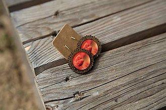 Náušnice - Naušky živicové-drevené MAKY - 10656420_