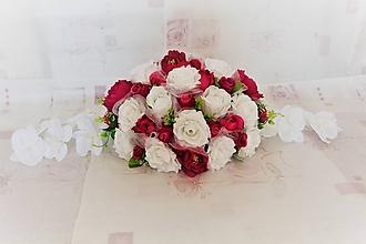 "Kytice pre nevestu - Svadobná ikebana na hlavný stôl ""cyklámenová"" - 10656840_"