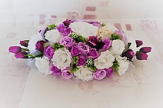 Kytice pre nevestu - Svadobná ikebana na hlavný stôl