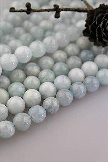 Minerály - akvamarín korálky 10mm (prírodný akvamarín SUPERAKCIA) - 10657643_