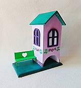 Krabičky - Domček na čaj Fialkový - 10656156_