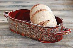Forma na pečenie chleba - jablonická ľudová - oválna dlhá