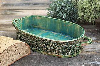 Nádoby - Forma na pečenie chleba - kolekcia Záhrada širšia oválna - 10656306_