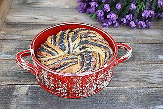 Nádoby - Forma na pečenie chleba - ľudová jablonická okrúhla - 10656318_