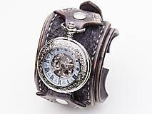 Náramky - Steampunk vreckové/náramkové hodinky II - 10657632_