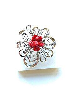 """Prstene - Prsten """"Srdcová záležitost"""" s korálovými zlomky - 10657228_"""