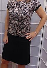 Šaty - Šaty krajkový vzor s černou S - XXXL - 10657859_