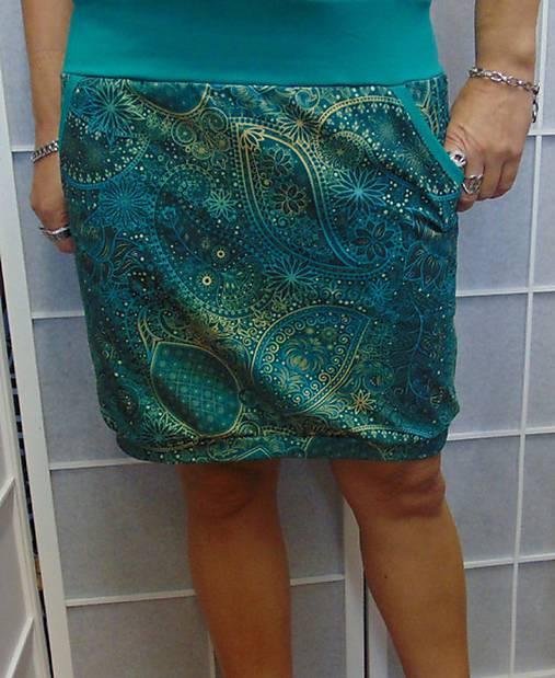 8c014ff8610b Sukně kašmírový vzor na smaragdové S - XXL   INDIVIDUALITKY - SAShE ...