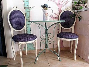Nábytok - Elegantné vintage stoličky pre dámy - 10656389_