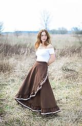 Sukne - zavinovacia sukňa Nature - 10656695_